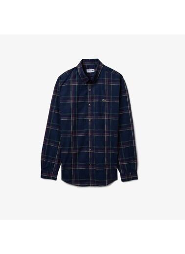 Lacoste Erkek Slim Fit Gömlek CH0188.88L Mavi